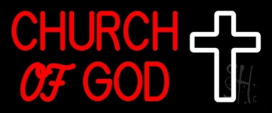 Red Church Of God Neon Sign