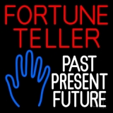 Red Fortune Teller White Past Present Future Neon Sign