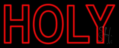Red Holy Neon Sign