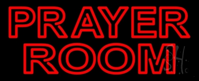 Red Prayer Room Neon Sign