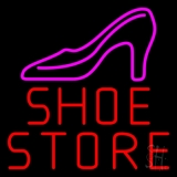 Red Shoe Store Neon Sign