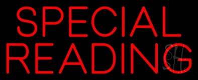 Red Special Reading Neon Sign