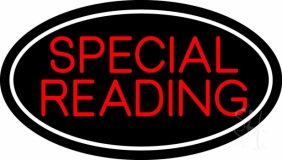 Red Special Reading White Border Neon Sign
