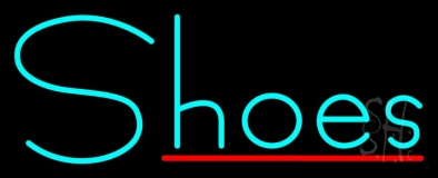 Turquoise Shoes Red Line Neon Sign
