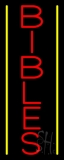Vertical Bibles Neon Sign
