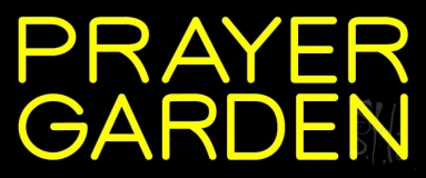 Yellow Prayer Garden Neon Sign