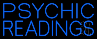 Blue Psychic Readings Neon Sign