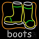 Boots With Logo Neon Sign