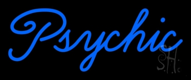 Cursive Blue Psychic Neon Sign