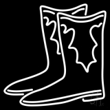 Pair Of Boots Logo Neon Sign
