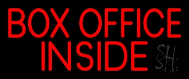 Red Box Office Inside Neon Sign
