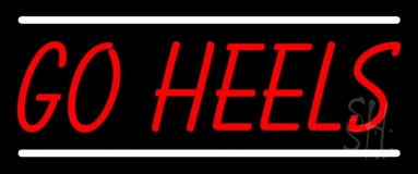 Red Go Heels Neon Sign