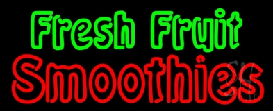 Double Stroke Fresh Fruit Smoothies Neon Sign