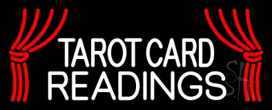White Tarot Card Readings Neon Sign