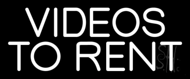 White Videos To Rent Neon Sign