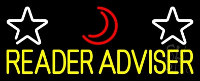 Yellow Reader Advisor Neon Sign