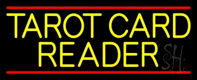 Yellow Tarot Card Reader Block Neon Sign