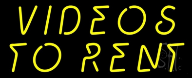 Yellow Videos To Rent Neon Sign