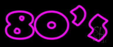 Pink 80s Neon Sign