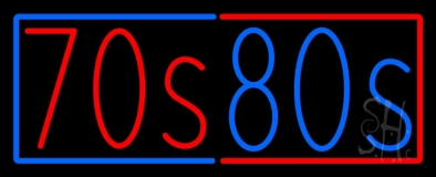 Red 70s Blue 80s Neon Sign