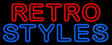 Red Retro Blue Styles Neon Sign