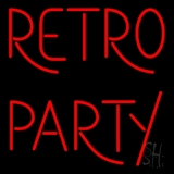Red Retro Party Neon Sign
