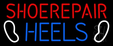 Shoe Repair Heels Neon Sign