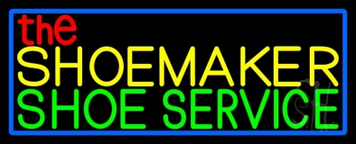 The Shoe Maker Shoe Service Neon Sign