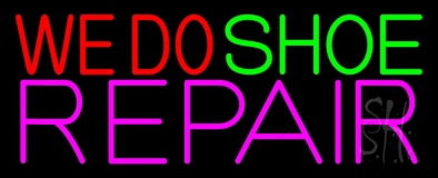 We Do Shoe Repair Neon Sign