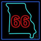 66 Route Neon Sign
