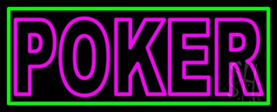Block Poker Neon Sign