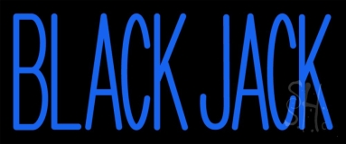 Blue Blackjack Neon Sign