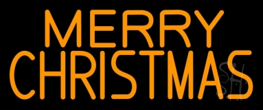 Orange Merry Christmas Tree Neon Sign