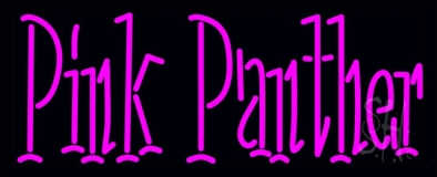 Pink Panther Neon Sign