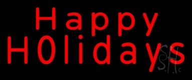 Red Happy Holidays Neon Sign