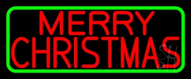 Red Merry Christmas Neon Sign