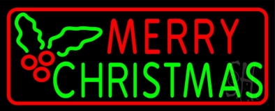Red Merry Green Christmas Neon Sign