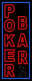 Red Poker Bar Neon Sign