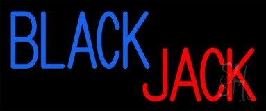 Singal Line Blackjack Neon Sign