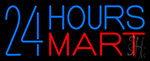 24 Hours Mini Mart Neon Sign