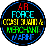 Air Force Coast Guard Merchant Marine Neon Sign
