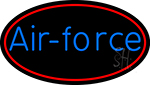 Air Force With Red Border Neon Sign