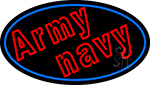 Army Navy With Blue Round Neon Sign