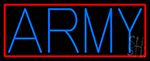 Blue Army With Red Border Neon Sign