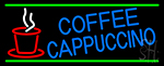 Blue Coffee Cappuccino Neon Sign