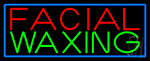 Blue Facial And Waxing Blue Border Neon Sign