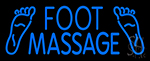 Blue Foot Massage Neon Sign