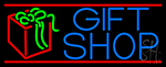 Blue Gift Shop Neon Sign