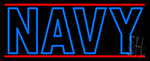 Blue Navy Neon Sign