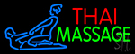 Blue Thai Massage Logo Neon Sign